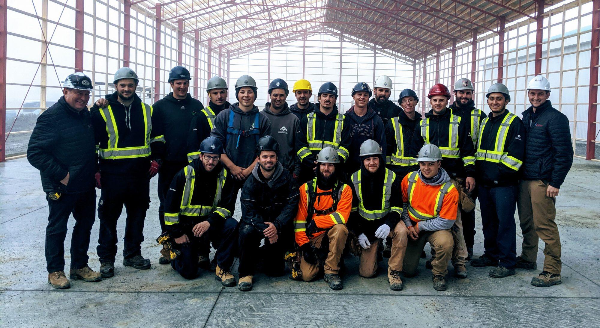 L'équipe de Constructions Deslandes (2019)